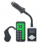 "1.0"" LCD Car MP3 Player FM Transmitter w/ Remote Controller/USB/SD/TF/Driver Reminder (DC 12~24V)"