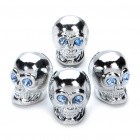 Cool Skull Style Car Tire Valve Caps (4-Piece Pack)
