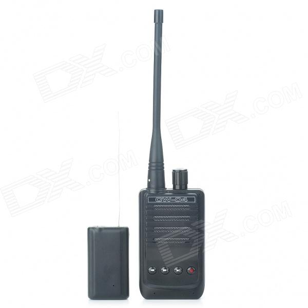 500-Meter Micro Wireless Audio/Voice Spying Bug Recording Transmitter and Receiver Set w/ TF Slot