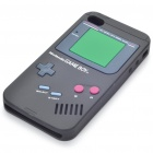 GameBoy Console Style Silicon Protective Case for iPhone 4 - Black