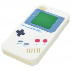 GameBoy Console Style Silicon Protective Case for iPhone 4 - White