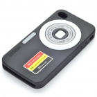 DC Style Silicone Protective Case for Iphone 4 - Black