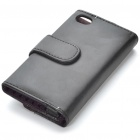 Protective PU Leather Case w/ Screen Protector & Cleaning Cloth for Ipod Touch 4 - Black