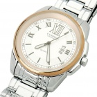 Stylish Water Resistant Stainless Steel Wrist Watch w/ Calendar - Silver + White + Golden(1 x 626)