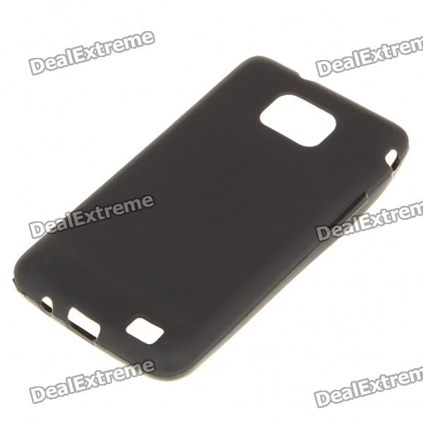 Stylish Protective PVC Back Case w/ Screen Guard for Samsung i9100 Galaxy S2 - Black protective pvc back case for samsung galaxy s ii i9100 black