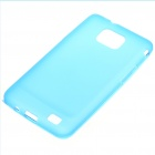 Stylish Protective PVC Back Case w/ Screen Guard for Samsung i9100 Galaxy S2 - Blue