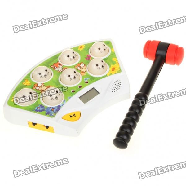 1.4 LCD Whack a Mole Game Hit Hamster Toy with Hammer (3 x AAA) creative kids talking hamster electronic pet toy 1pc