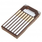 Fashion Cigarette Style Protective Soft Silicone Case for Iphone 4 - Coffee