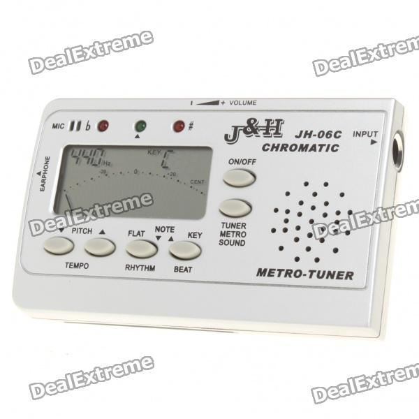 3-in-1 Universal 1.7 LCD Chromatic Tuner + Metronome + Tone Generator (2xAAA) tv tuner out of range