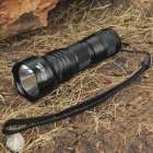UltraFire Mini-T60 XM-LT6 3-Mode 1000-Lumen White LED Flashlight with Strap - Black (1 x 16340)
