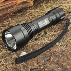 UltraFire C2-T60 3-Mode 1200-Lumen White LED Flashlight with Strap - Black (1 x 18650)