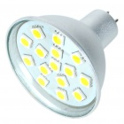 MR16 3W 240-Lumen 3200K 15-5050 SMD LED Warm White Light Bulb (DC 12V)