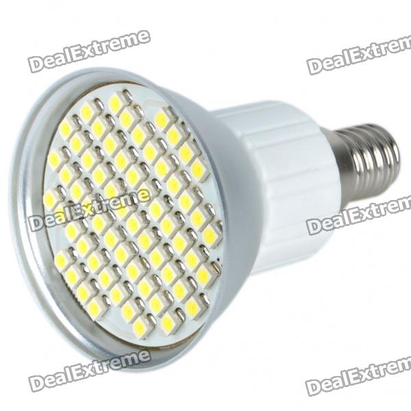 E14 4.5W 60x3528 SMD LED 240-Lumen 6500K White Light Bulb (220~240V) от DX.com INT