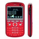 "2.2"" Triple SIM Triple Network Standby Quad-band GSM TV Qwerty Phone w/ WiFi - Red"