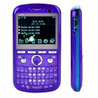 "2.2"" Triple SIM Triple Network Standby Quad-band GSM TV Qwerty Phone w/ WiFi - Purple"
