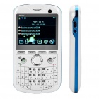 "2.2"" Triple SIM Triple Network Standby Quad-band GSM TV Qwerty Phone w/ WiFi - White"