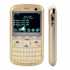 "2.2"" Triple SIM Triple Network Standby Quad-band GSM TV Qwerty Phone w/ WiFi - Golden"