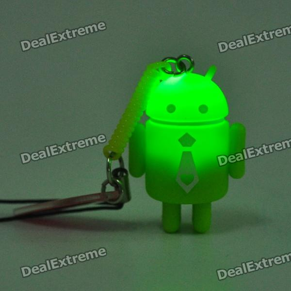 Cute Android Cellphone Strap with Caller Signal Flashing LED (3xAG8 / Random Color)
