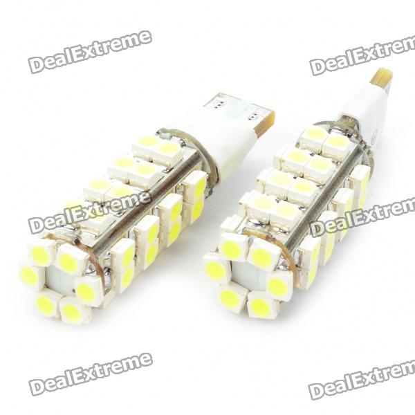 T10 2.5W 6500K 155-Lumen 2-Mode 38-3528 SMD LED White лампочки (DC 12V/Pair)