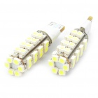 T10 2.5W 6500K 155-Lumen 2-Mode 38-3528 SMD LED White Light Bulbs (DC 12V/Pair)