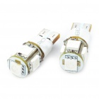 T10 1.5W 60-Lumen 2-Mode 5-5050 SMD LED Blue Light Bulbs (DC 12V/Pair)