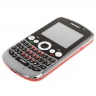 "2.0"" Touch Screen Quad SIM Quad Network Standby Quadband GSM Qwerty Phone w/ TV - Grey + Red"