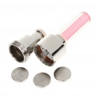 Tyre Wheel Valve Red LED Flash Light for Bike - Silver + Pink (Pair)