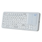 2.4G Wireless Mini Handheld Keyboard with IR Remote - White
