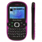 "2.0"" Touch Screen Dual SIM Dual Network Standby Quadband GSM Cell Phone- Rose + Black"