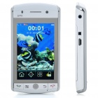 "H3000 3.2"" Touch Screen Dual SIM Dual Network Standby Quadband GSM Bar Phone w/ TV/GPS/WiFi - White"