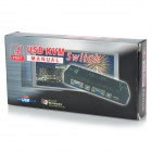 4-Port USB 2.0 Manual de KVM VGA Box Video Monitor - preto