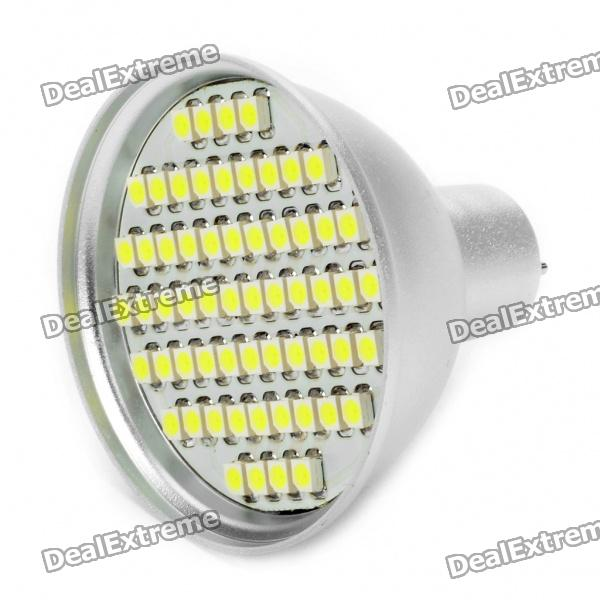 MR16 4.5W 240LM 6500K 60x3528 SMD LED White Light Bulb (12V)