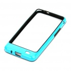 Protective PVC Border Bumper Frame with Screen Protector for Samsung i9100 Galaxy S2 - Blue