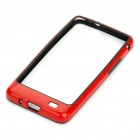 Protective PVC Border Bumper Frame with Screen Protector for Samsung i9100 Galaxy S2 - Red