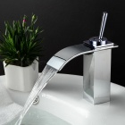 Contemporary Waterfall Bathroom Faucet (Silver)
