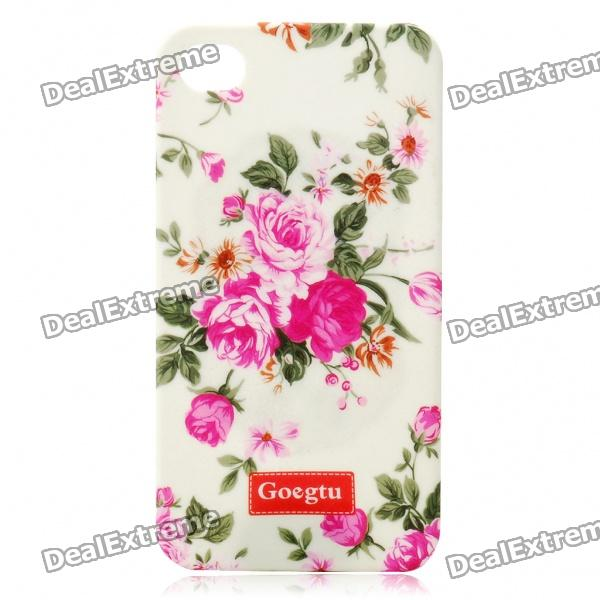 Goegtu Peony Flower Pattern Protective ABS Case for Iphone 4 от DX.com INT