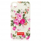 Goegtu Peony Flower Pattern Protective ABS Case for iPhone 4