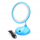 USB/3xAA Powered Flexible Neck 15-LED White Light Desktop Mirror w/ 3X Magnification for Makeup