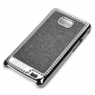 Stylish Protective Shinning Plated Back Case for Samsung i9100 Galaxy S2 - Black