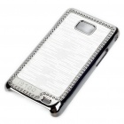 Stylish Protective Shinning Plated Back Case for Samsung i9100 Galaxy S2 - White