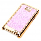 Stylish Protective Shinning Plated Back Case for Samsung i9100 Galaxy S2 - Pink