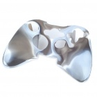 Camouflage Pattern Silicone Protective Case for Xbox 360 Controller - Grey + White