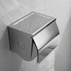 Modern Stainless Steel Toilet Paper Holder - Silver