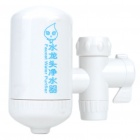 Faucet Tap Water Filter Purifier w/ Connector Adapters (20mm-Diameter)