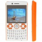 "L800 2.3"" LCD Quad SIM Quad Network Standby Quadband GSM Qwerty Phone w/ FM + TV - White + Orange"