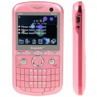 "F32 2.2"" LCD Triple SIM Triple Network Standby Quadband GSM Qwerty Phone w/ TV + WiFi - Pink"