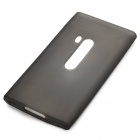 Protective Rubber Gel Silicone Back Case for Nokia N9 - Grey
