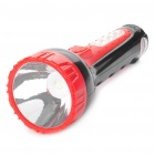 2-in-1 Outdoor Rechargeable 1.0W 1-LED White Flashlight + 4-LED White Light Side Plate Torch - Red