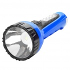 2-in-1 Outdoor Rechargeable 1.0W 1-LED White Flashlight + 4-LED White Light Side Plate Torch - Blue