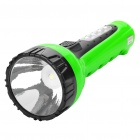2-in-1 Outdoor Rechargeable 1.0W 1-LED White Flashlight + 4-LED White Light Side Plate Torch - Green